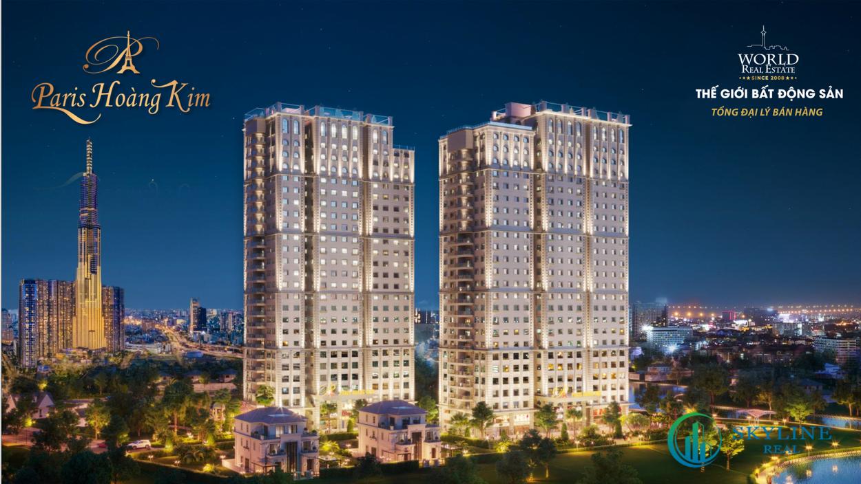 Phối cảnh tổng thể dự án căn hộ Paris Hoàng Kim