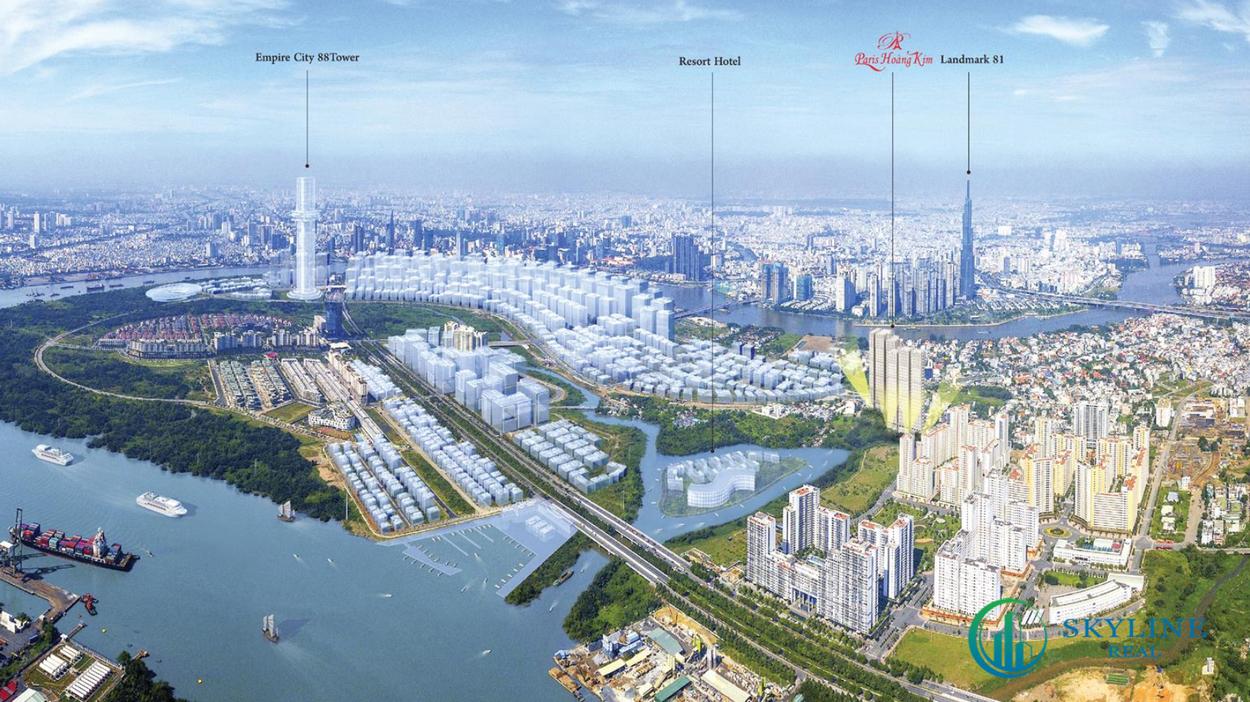 Quy mô tổng quan dự án căn hộ Paris Hoàng Kim