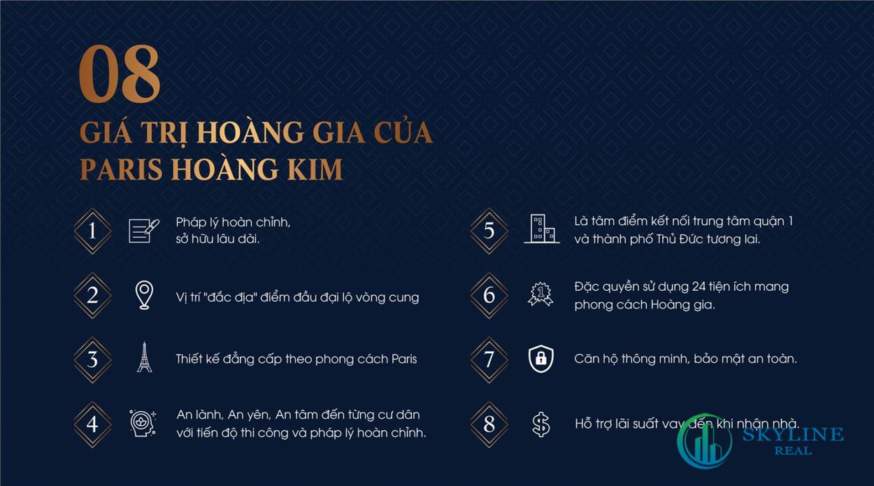 8 giá trị Paris Hoàng Kim mang lại
