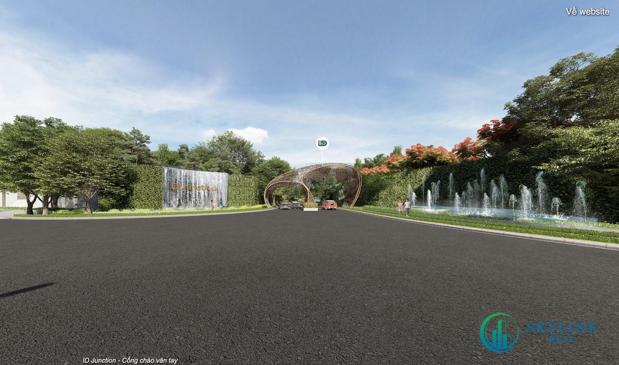 Cổng chào vân tay trước dự án