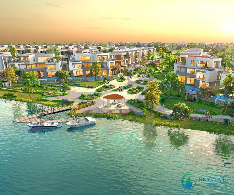 Tiếp cận sông nước chỉ vài bước tại khu đô thị Aqua City