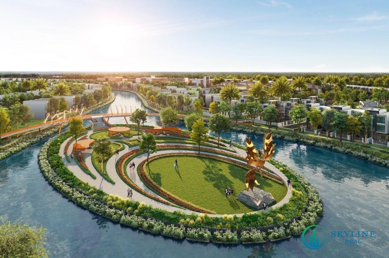Hệ kênh đào xuyên tâm tại đô thị đảo Phượng Hoàng Aqua City
