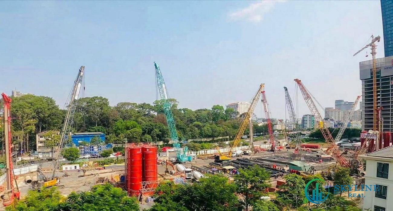 Dự án Grand Marina SaiGon đang trong quá trình thi công móng cọc