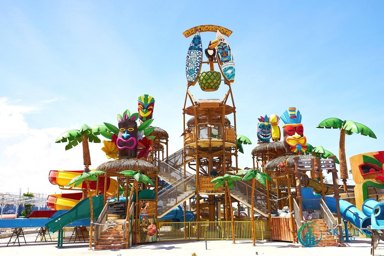 Nhiều hạng mục trò chơi tại công viên giải trí Tropicana Park đã được lắp đặt - Tiến độ NovaWorld Hồ Tràm thực tế tháng 5/2021