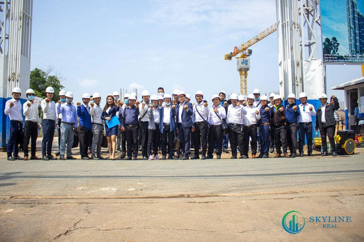 Tiến độ thực tế dự án căn hộ HT Pearltháng 5/2021: