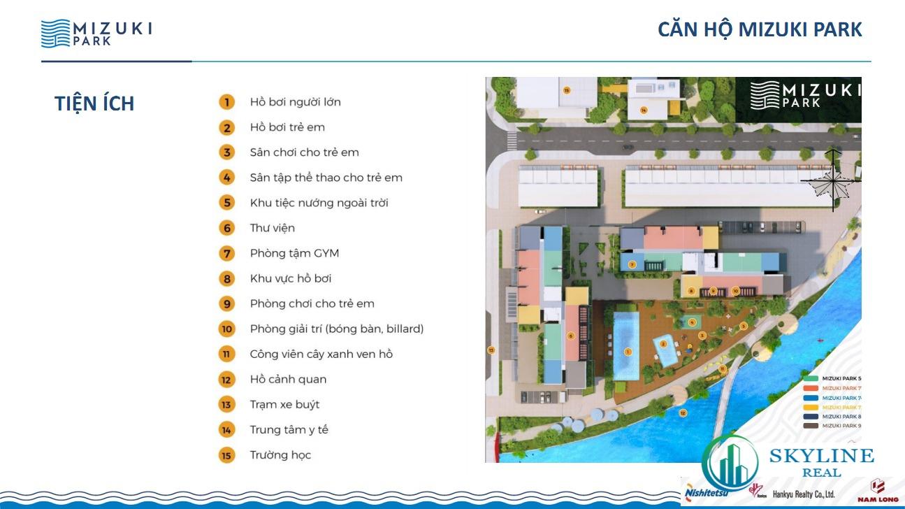 Tiện ích nổi bật dự án căn hộ Mizuki Park Bình Chánh