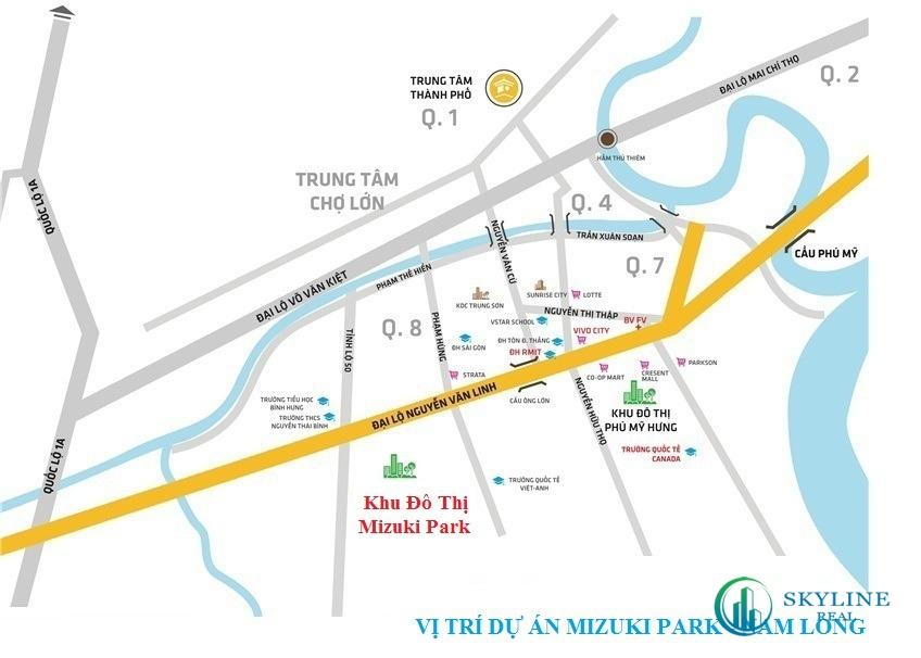 Địa chỉ vị trí chính xác dự án căn hộ Mizuki Park