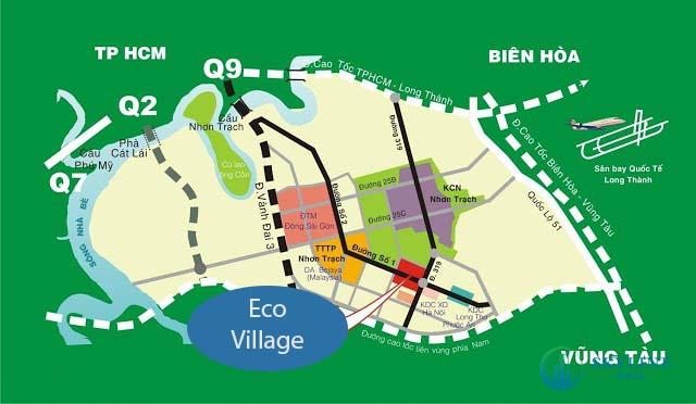 Vị trí chính xác của dự án khu đô thị Eco Village