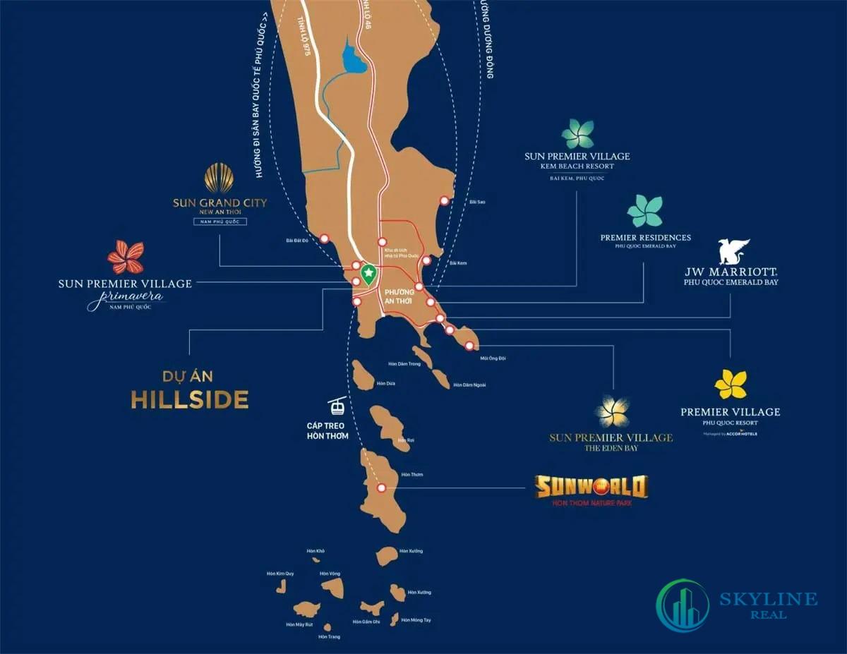 Vị trí chính xác dự án Sun Grand City Hillside Residence