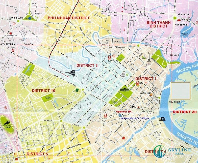 Bản đồ Quận 1 chi tiết nhất [Quy hoạch mới nhất 6/2021]
