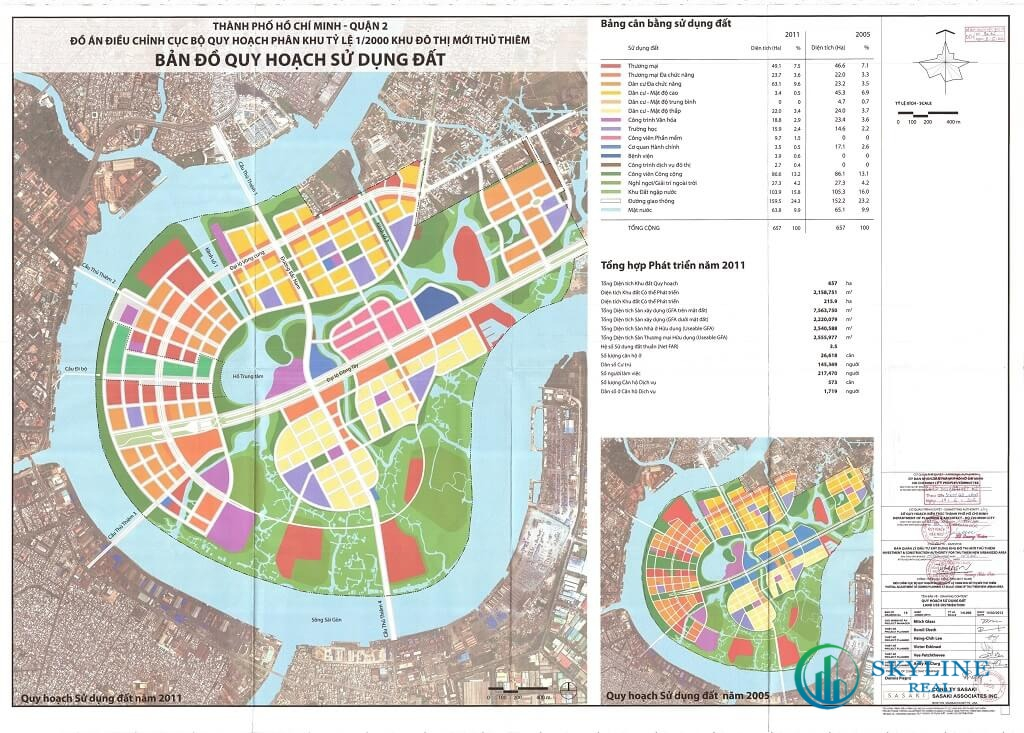 Bản đồ Khu đô thị mới Thủ Thiêm quận 2