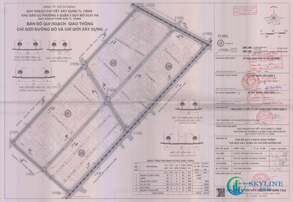 Bản đồ quy hoạch 1/2000 Khu dân cư Phường 5, Quận 3