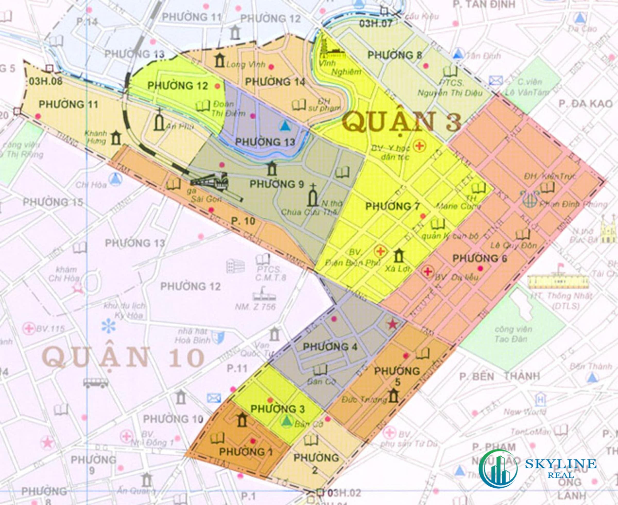 Bản đồ Quận 3 quy hoạch chi tiết tháng 06/2021