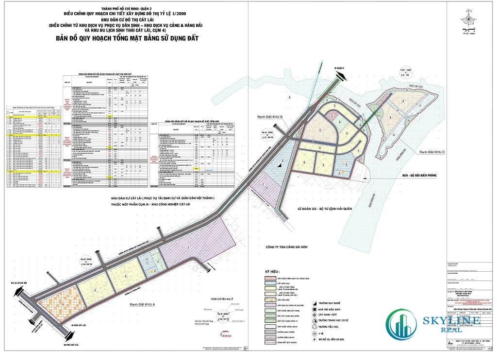 Bản đồ quy hoạch phường Cát Lái