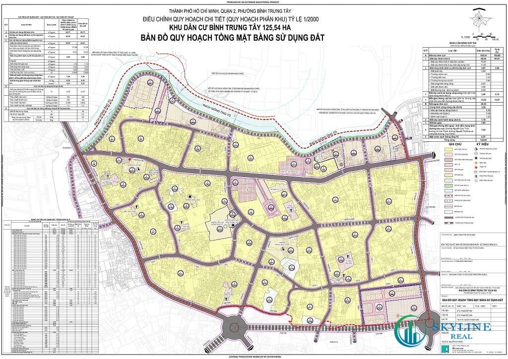 Bản đồ quy hoạch Phường Bình Trưng Tây