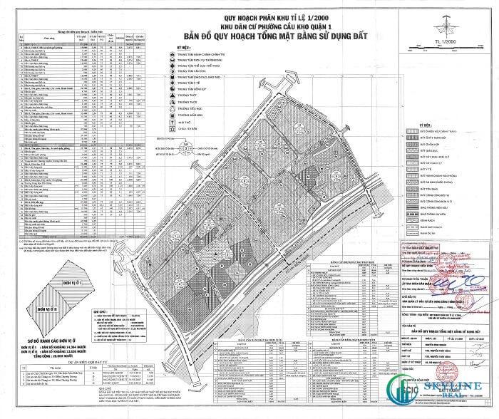 Bản đồ quy hoạch sử dụng đất phường Cầu Kho