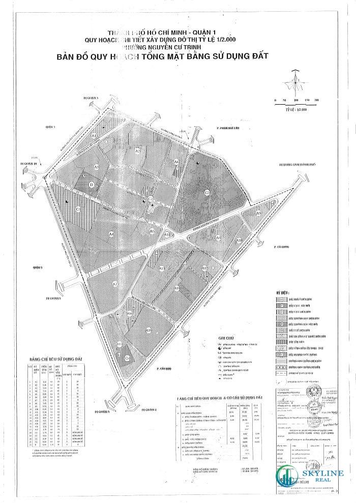 Bản đồ quy hoạch sử dụng đất phường Nguyễn Cư Trinh