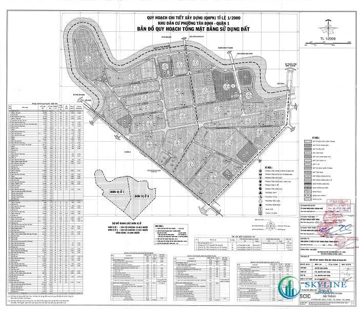 Bản đồ quy hoạch sử dụng đất phường Tân Định