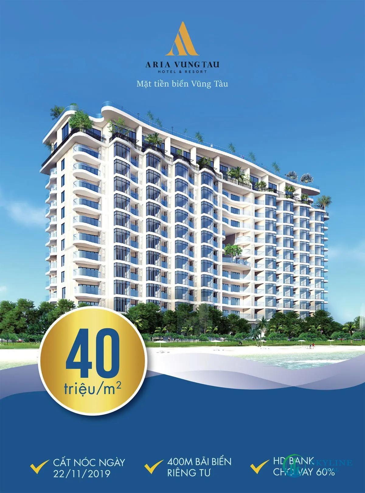 Giá bán căn hộ Aria Vũng Tàu cập nhật tháng 09/2021