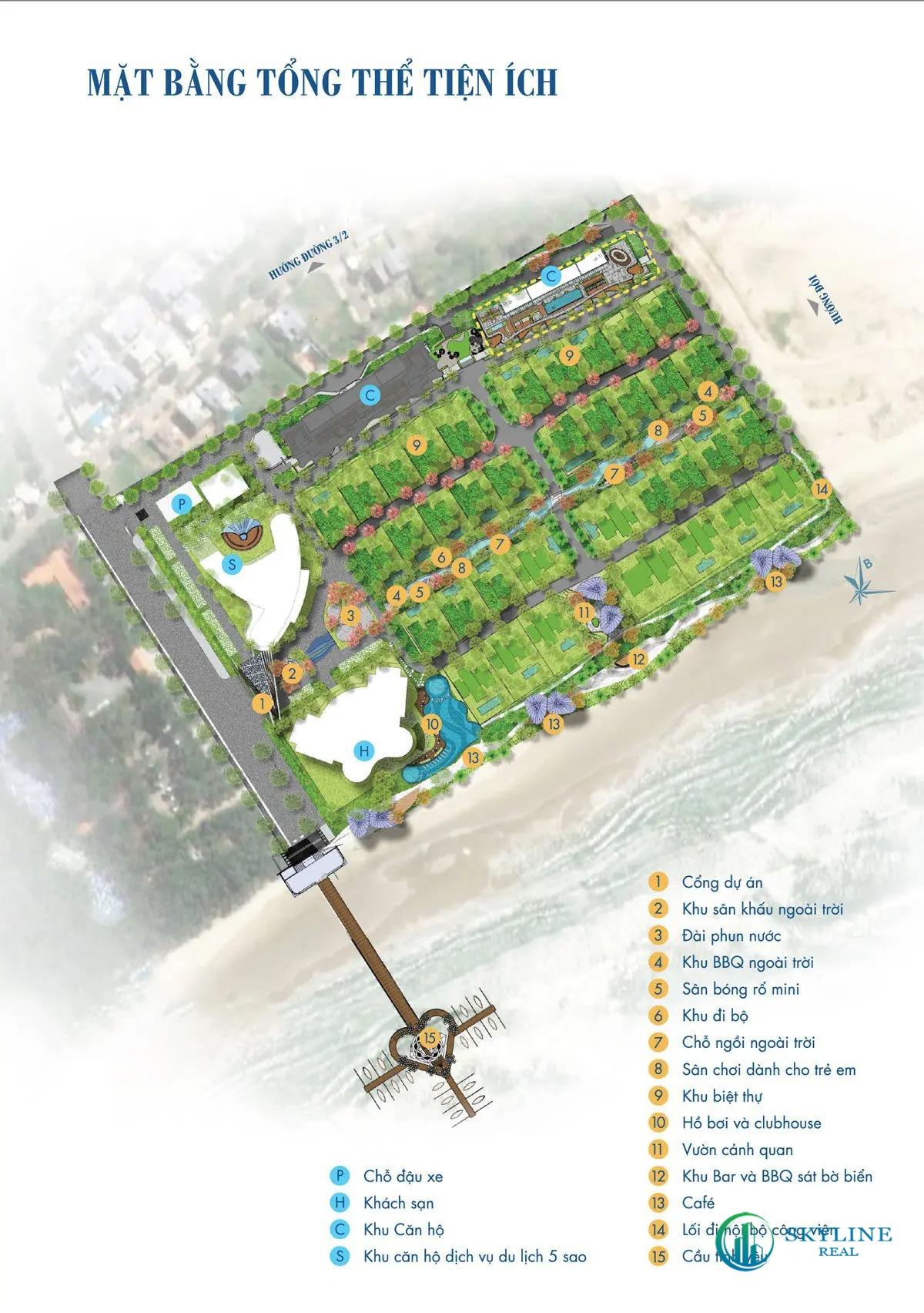 Mặt bằng chi tiết dự án căn hộAria Vũng Tàu