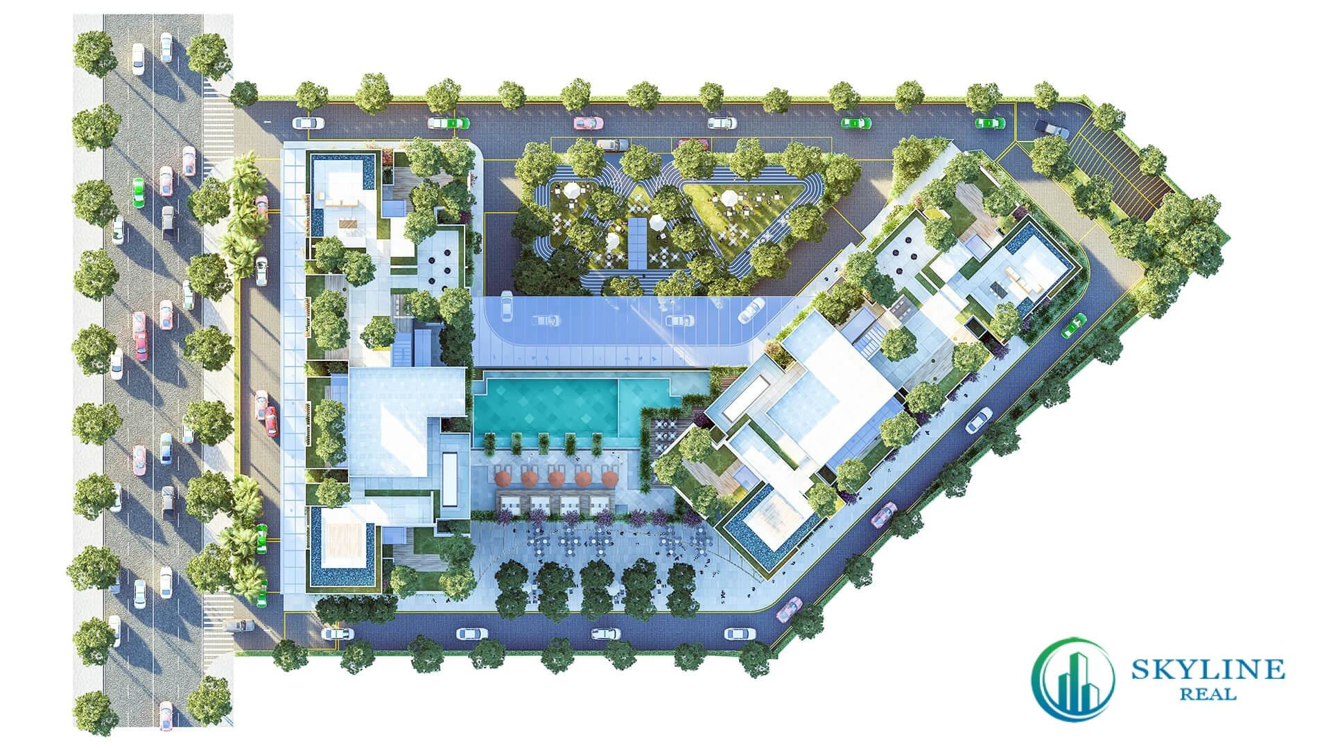 Mặt bằng chi tiết dự án Asiana Riverside