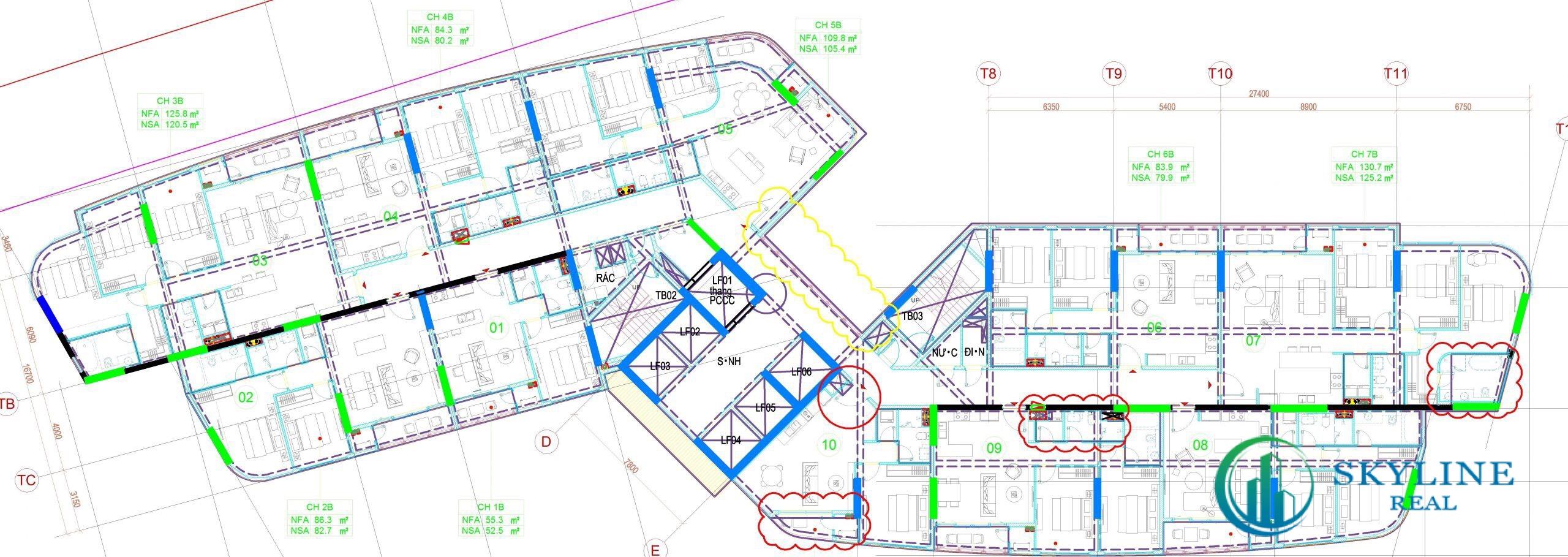 Mặt bằng tổng dự án căn hộ Thảo Điền Green Tower