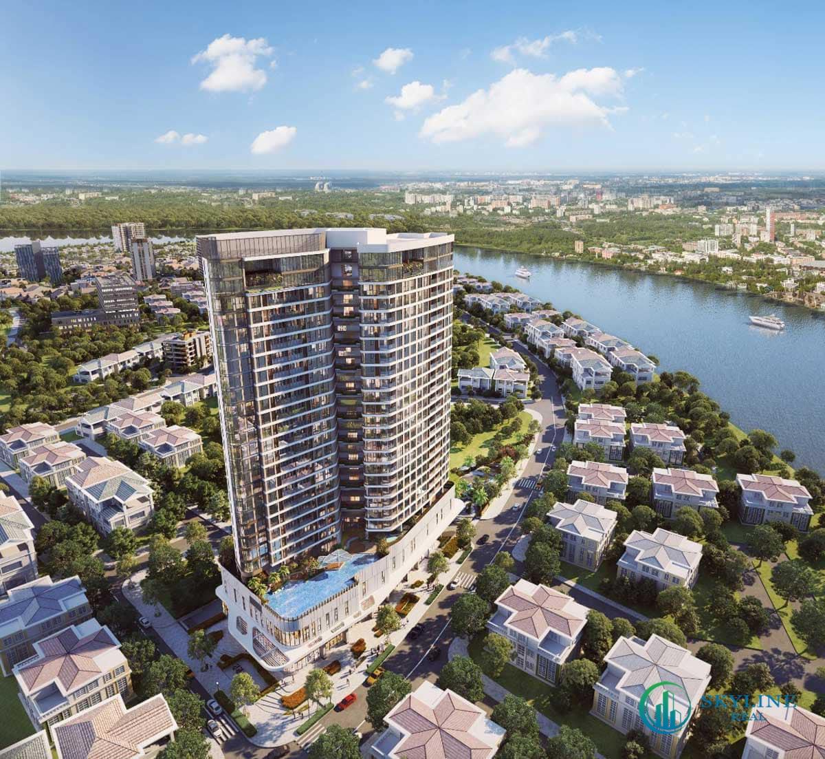 Phối cảnh tổng thể dự án Thảo Điền Green Tower