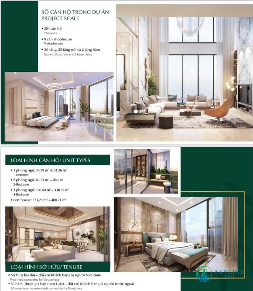 Thông tin diện tích căn hộ Thảo Điền Green Tower