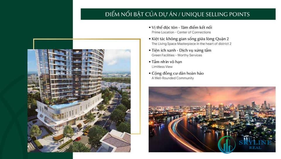 Điểm nổi bật của dự án Thảo Điền Green Tower