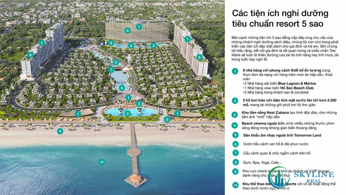 Các tiện ích nghỉ dưỡng tiêu chuẩn Resort 5 sao tại The Maris