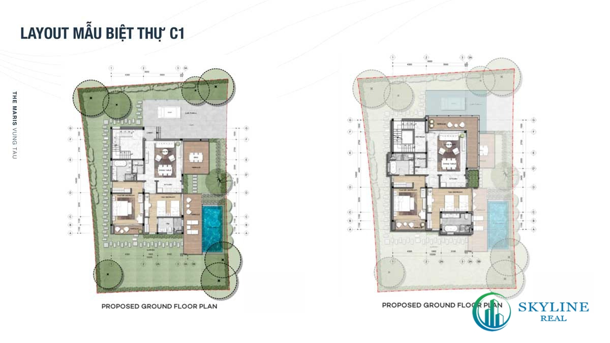 Thiết kế mẫu biệt thự C1 tại The Maris Vũng Tàu