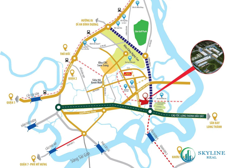 Vị trí chính xác dự án EstMark City Quận 9