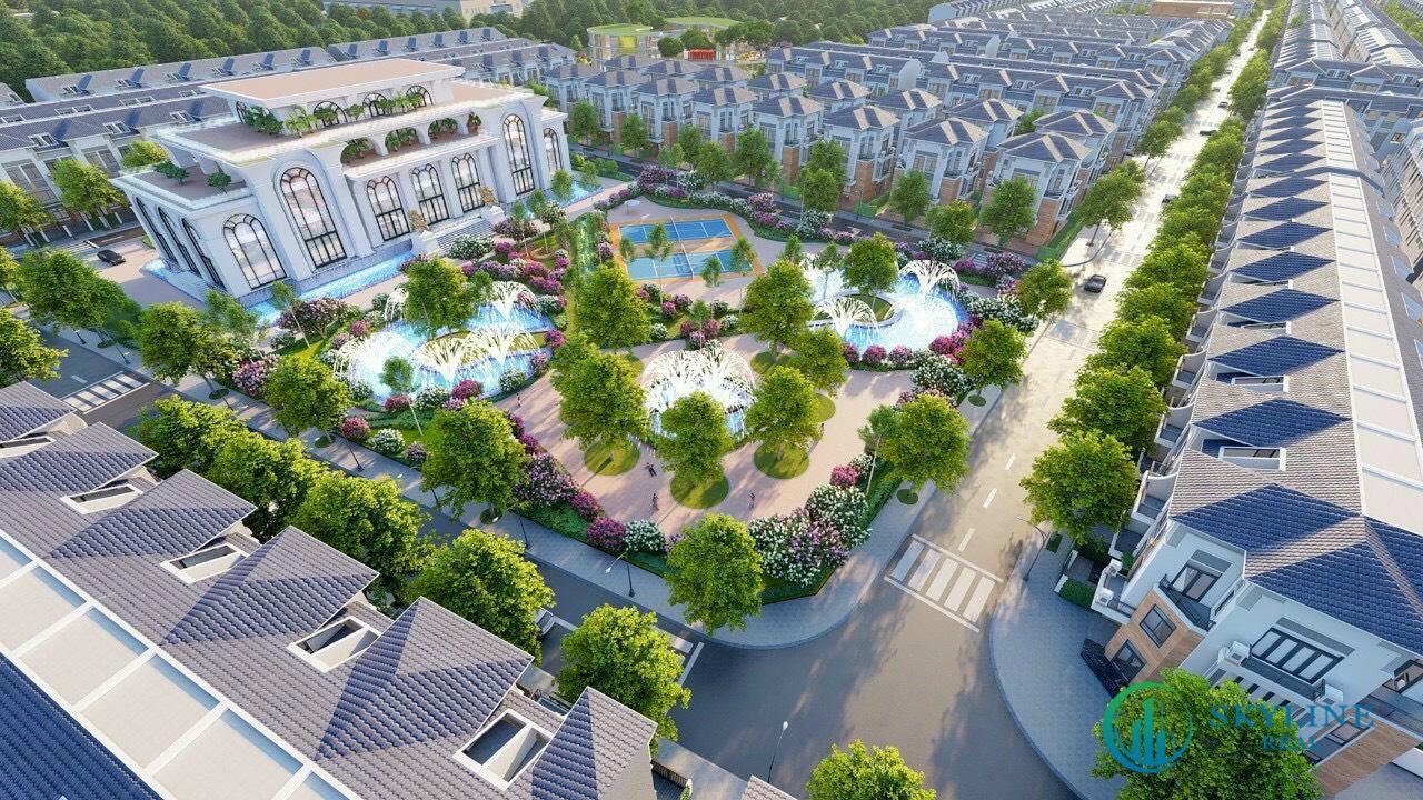 Công viên trung tâm tại khu đô thị STC Long Thành