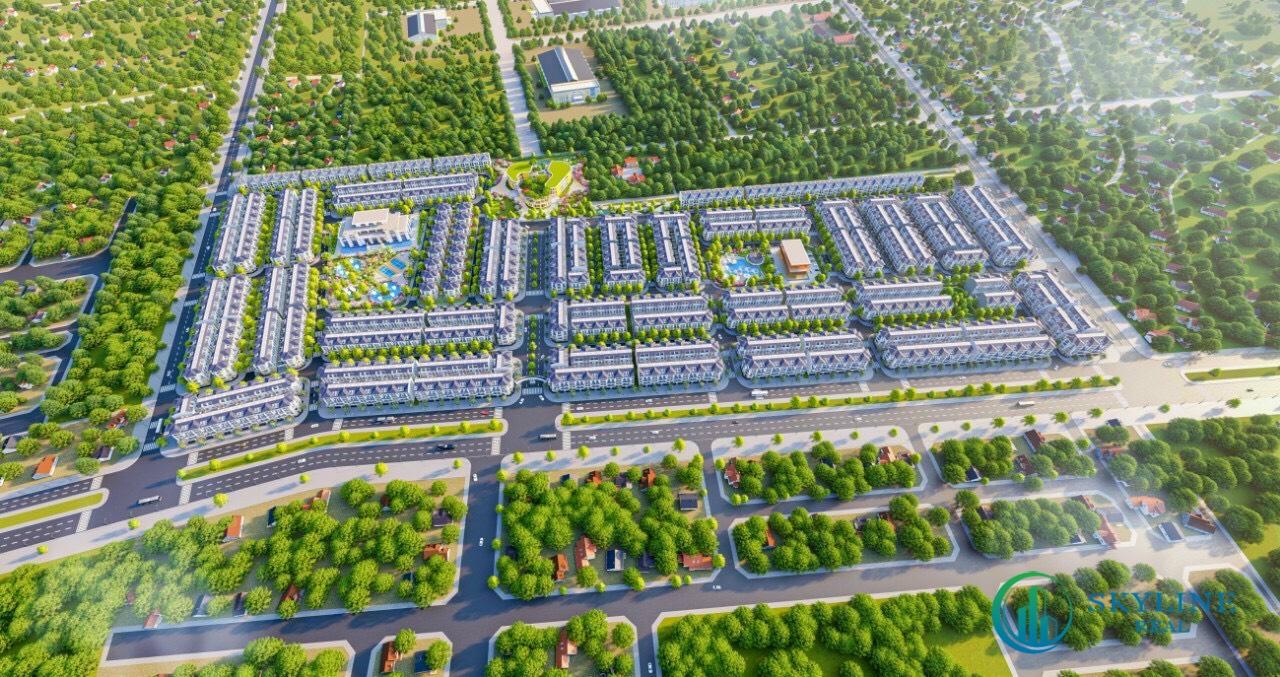 Phối cảnh tổng thể khu đô thị STC Long Thành