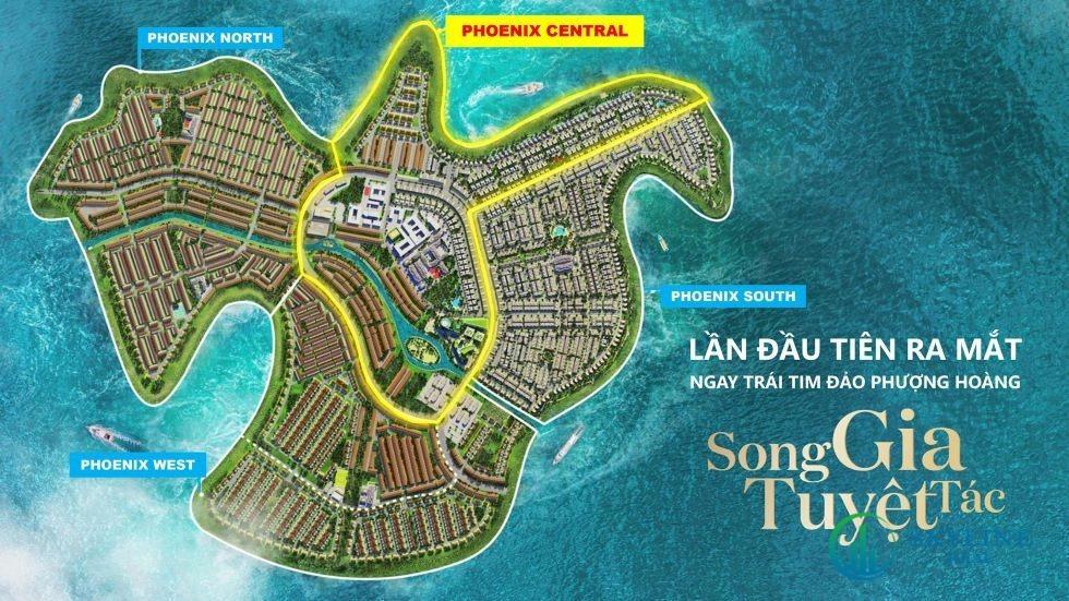 Biệt thự Song Gia Tuyệt Tác vị trí trái tim đảo Phượng Hoàng