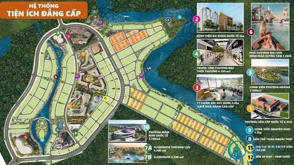 Thừa hưởng trọn vẹn hệ thống tiện ích trái tim đảo Phượng Hoàng và Aqua City.