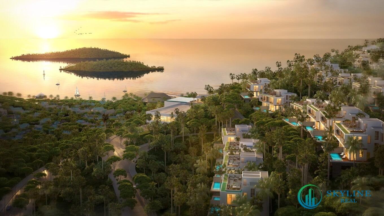 Biệt thự Casa Marina Premium với địa thế lưng tựa núi, mặt hướng biển.
