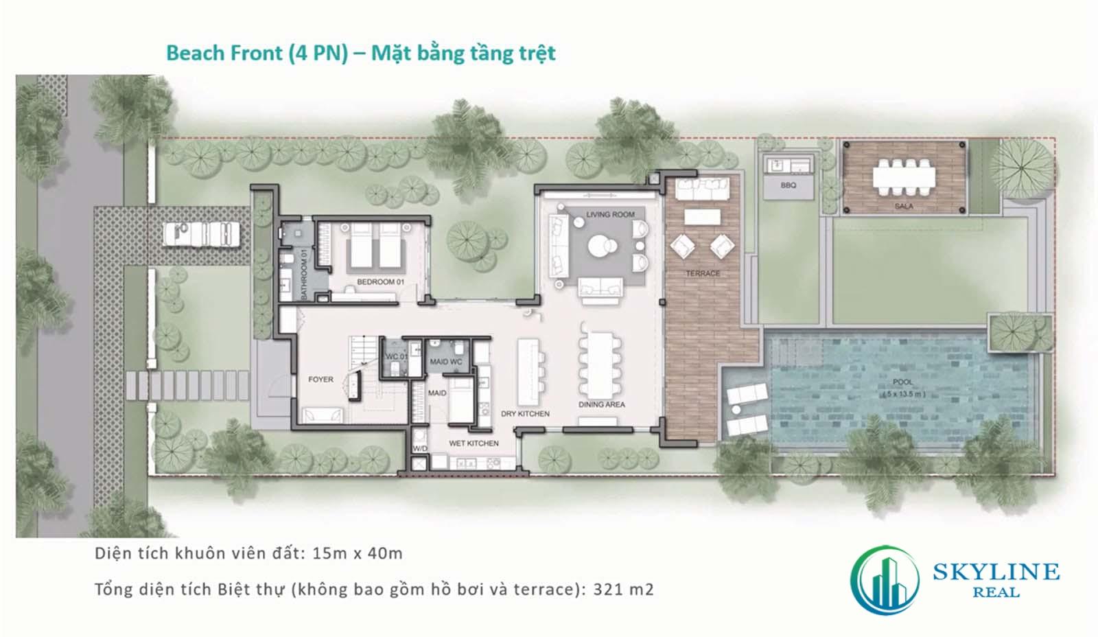 Biệt thự Maia Resort Quy Nhơn 4 phòng ngủ - Beach Front villa