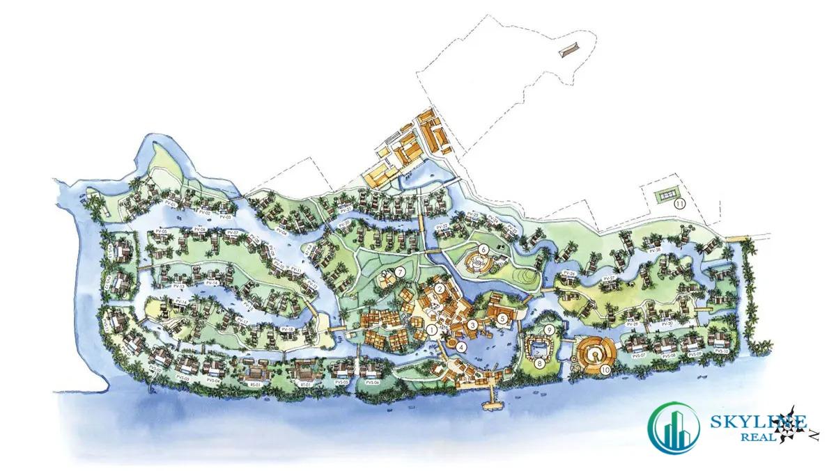 Mặt bằng tổng thể dự án Six Senses Sai Gon River