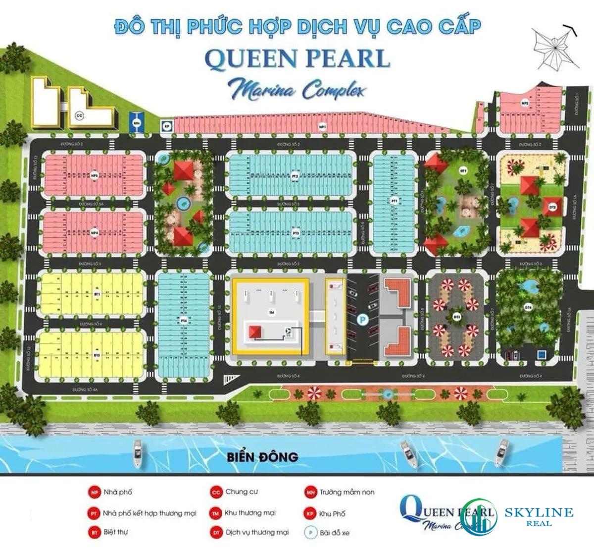Mặt bằng tổng thể dự án Queen Pearl Marina Bình Thuận