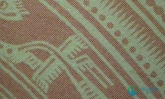 Sổ hồng thật có màu sắc rất nét, các hạt mực cùng màu trên một chi tiết tin.
