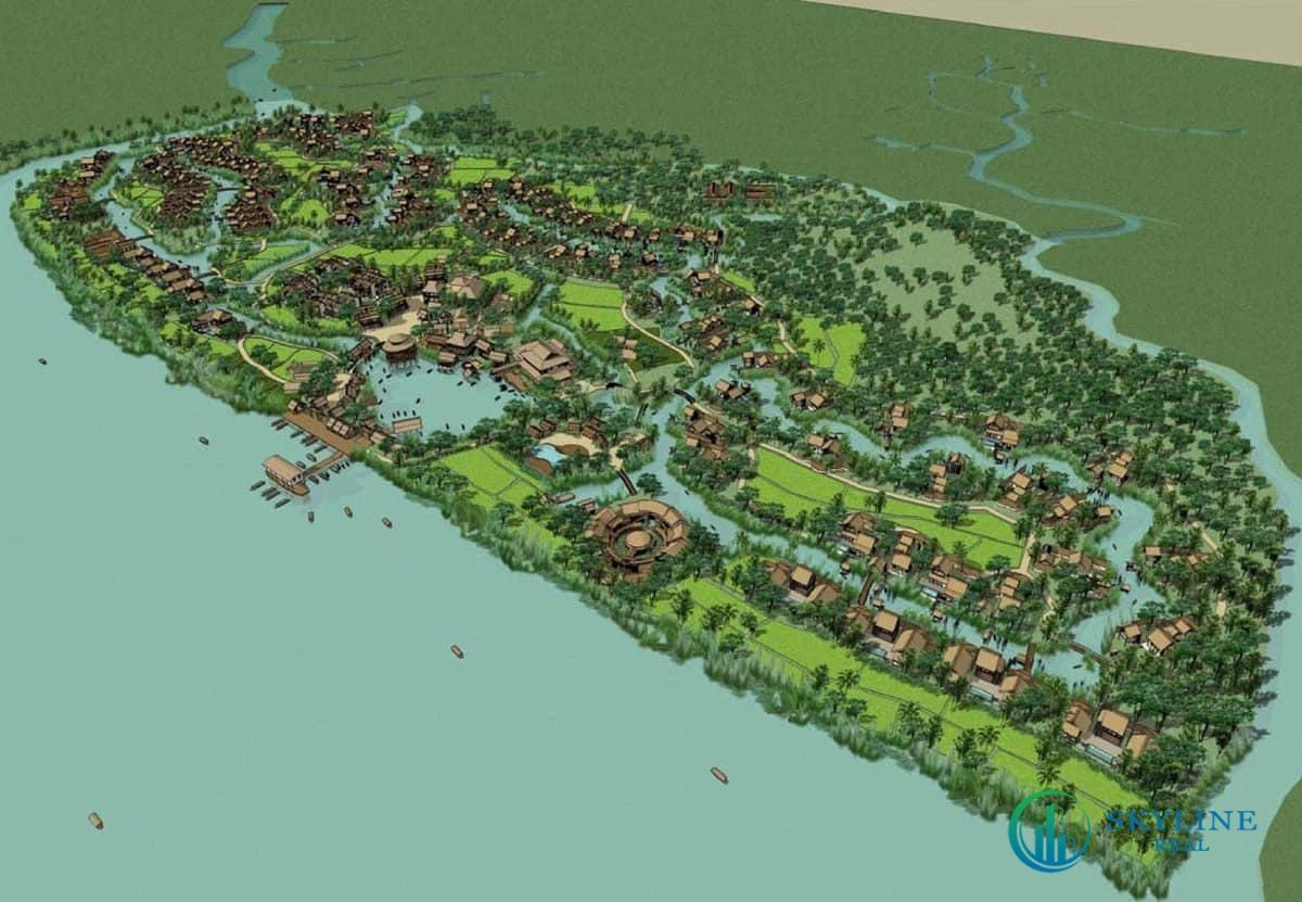Phối cảnh dự án nghỉ dưỡng Six Senses Sai Gon River