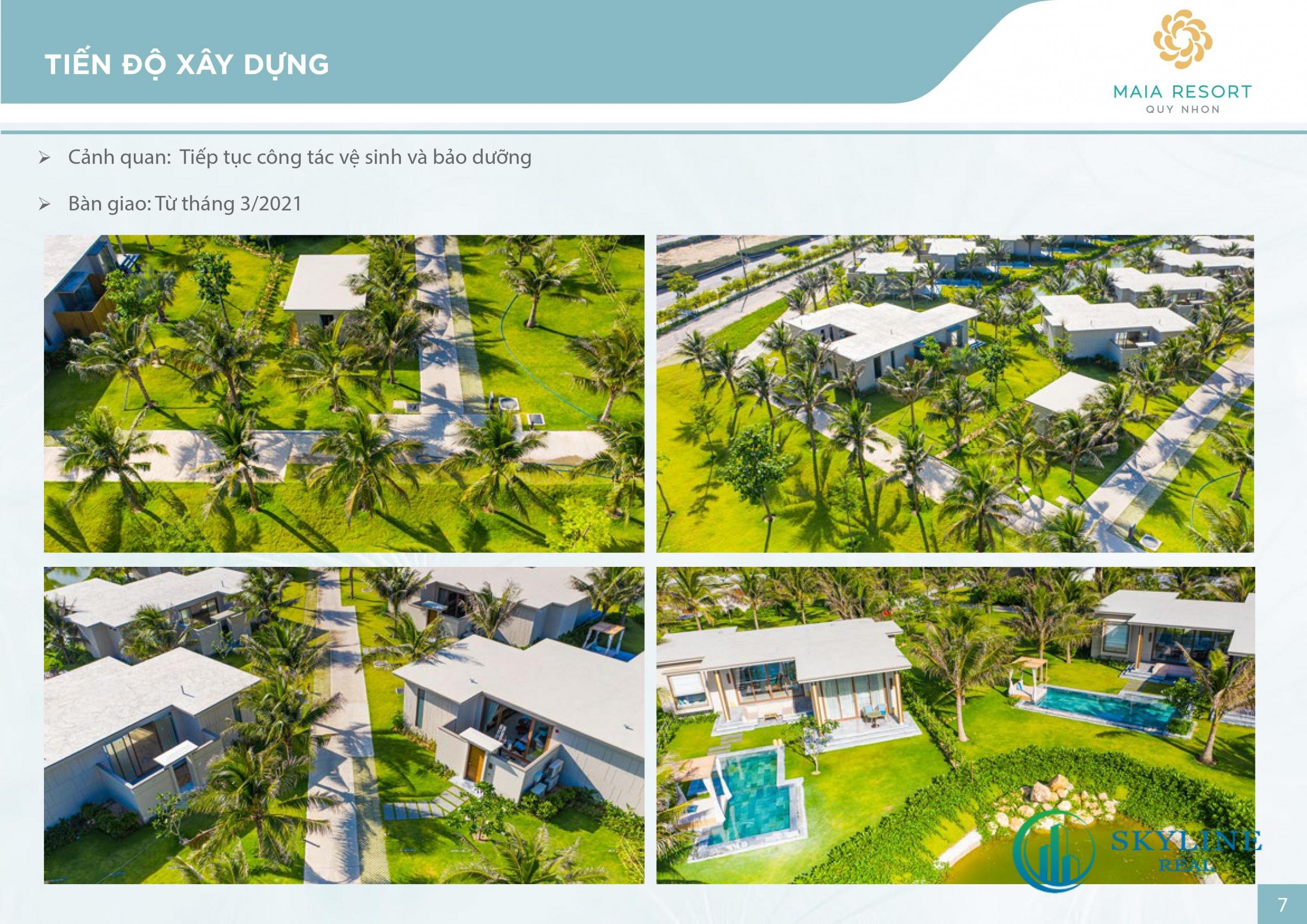 Tiến độ dự án Maia Resort