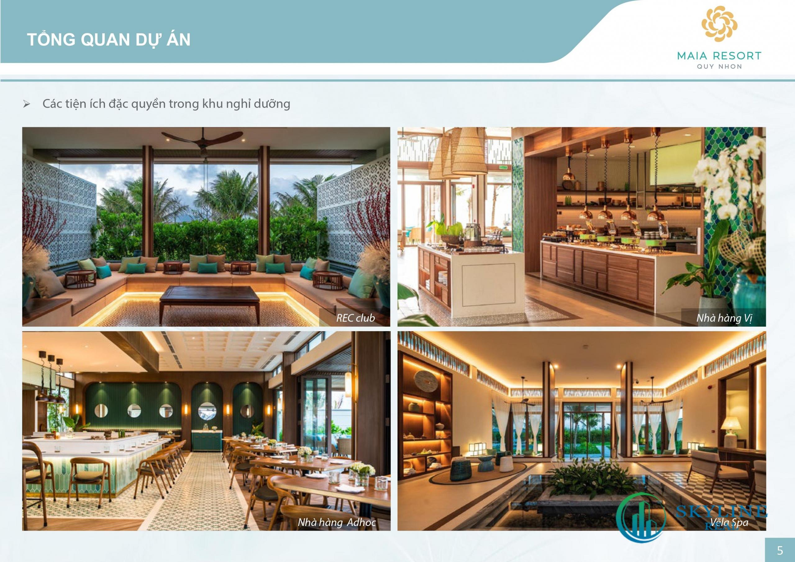 Tiện ích nổi bật dự án Maia Resort Quy Nhơn