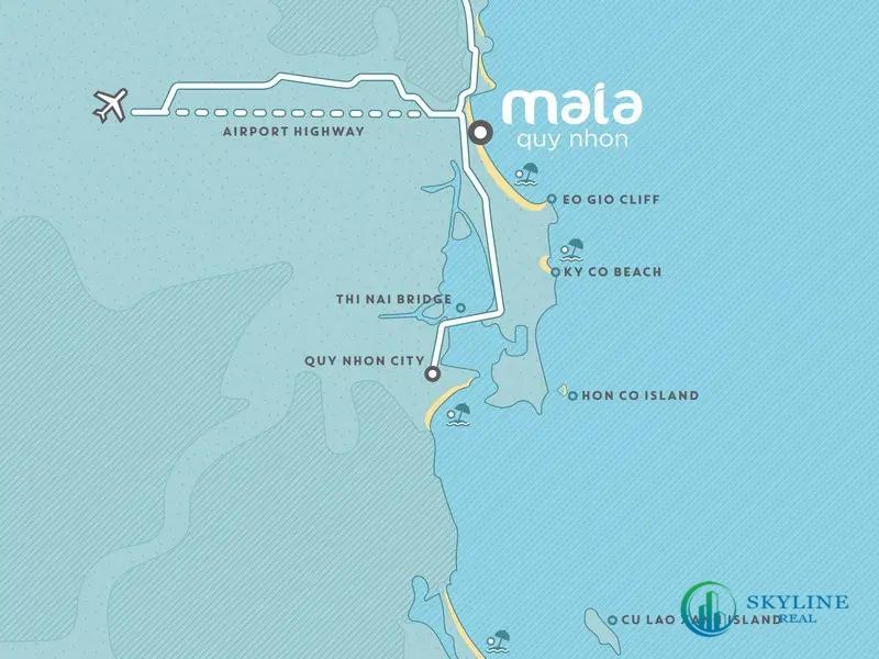 Địa chỉ vị trí chính xác dự án Maia Resort Quy Nhơn