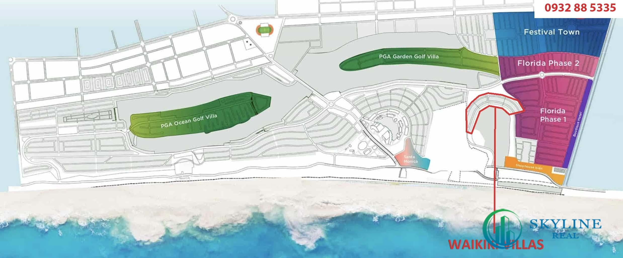 Vị trí phân khu Waikiki tại dự án NovaWorld Phan Thiết