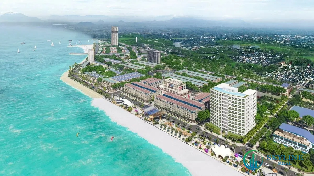 Phối cảnh một dự án phức hợp đô thị thương mại - dịch vụ và du lịch biển Lagi New City