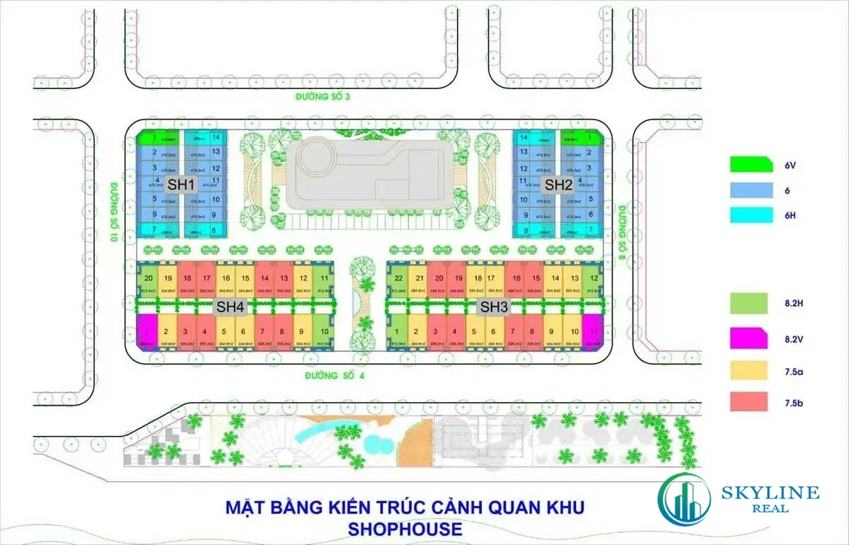 Mặt bằng shophouse dự án Lagi Bình Thuận