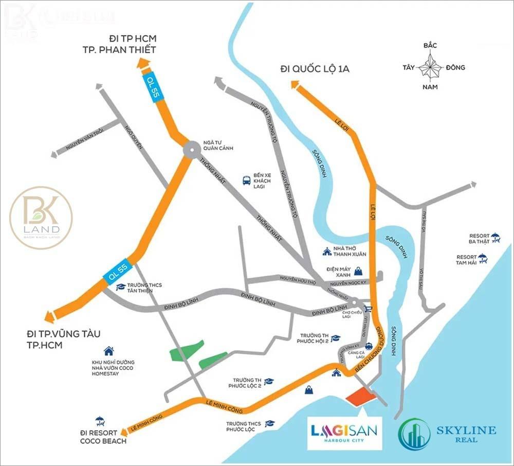 Vị trí khu đô thị Lagi New City Bình Thuận