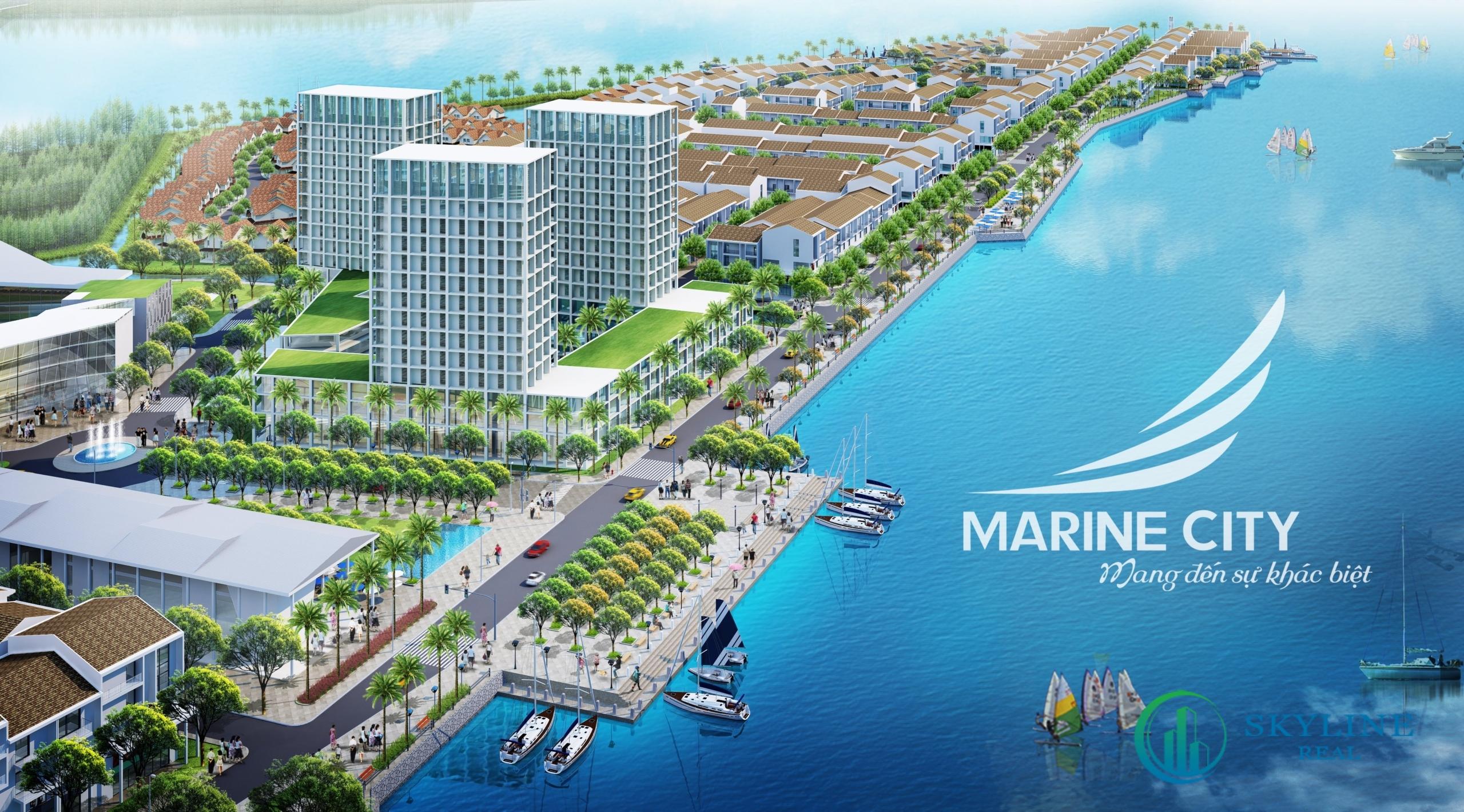 Phối cảnh tổng thể dự án Marine City Vũng Tàu